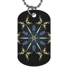 Mandala Butterfly Concentration Dog Tag (one Side) by Celenk