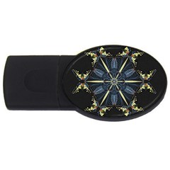 Mandala Butterfly Concentration Usb Flash Drive Oval (2 Gb)