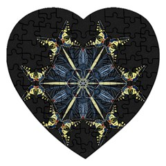 Mandala Butterfly Concentration Jigsaw Puzzle (heart) by Celenk