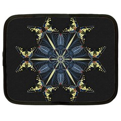 Mandala Butterfly Concentration Netbook Case (xl)