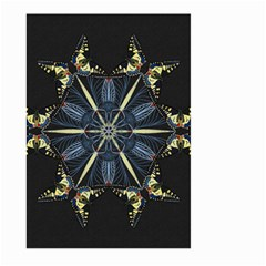 Mandala Butterfly Concentration Large Garden Flag (two Sides) by Celenk