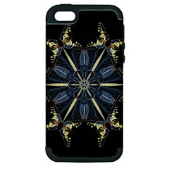 Mandala Butterfly Concentration Apple Iphone 5 Hardshell Case (pc+silicone) by Celenk