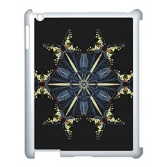 Mandala Butterfly Concentration Apple Ipad 3/4 Case (white) by Celenk