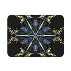Mandala Butterfly Concentration Double Sided Flano Blanket (mini)  by Celenk