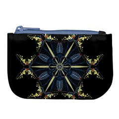Mandala Butterfly Concentration Large Coin Purse by Celenk