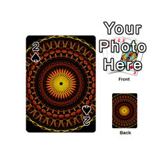 Mandala Psychedelic Neon Playing Cards 54 (mini)  by Celenk