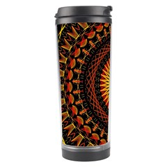 Mandala Psychedelic Neon Travel Tumbler by Celenk