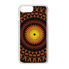 Mandala Psychedelic Neon Apple Iphone 8 Plus Seamless Case (white)