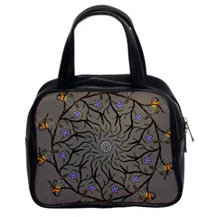 Bird Mandala Spirit Meditation Classic Handbags (2 Sides)