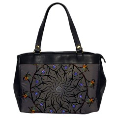 Bird Mandala Spirit Meditation Office Handbags by Celenk
