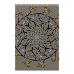 Bird Mandala Spirit Meditation Shower Curtain 48  X 72  (small)