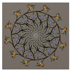 Bird Mandala Spirit Meditation Large Satin Scarf (square) by Celenk