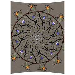 Bird Mandala Spirit Meditation Back Support Cushion by Celenk