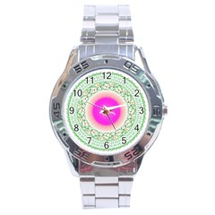 Flower Abstract Floral Stainless Steel Analogue Watch by Celenk