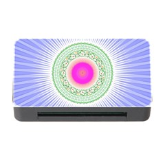 Flower Abstract Floral Memory Card Reader With Cf by Celenk