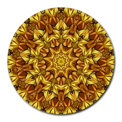 Abstract Antique Art Background Round Mousepads by Celenk