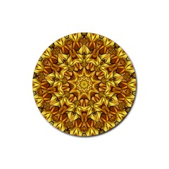 Abstract Antique Art Background Rubber Round Coaster (4 Pack)  by Celenk