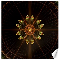 Fractal Floral Mandala Abstract Canvas 20  X 20   by Celenk