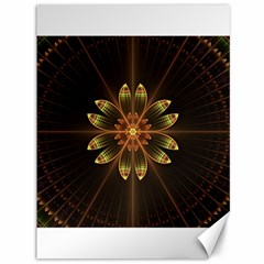 Fractal Floral Mandala Abstract Canvas 36  X 48   by Celenk
