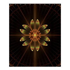 Fractal Floral Mandala Abstract Shower Curtain 60  X 72  (medium)  by Celenk
