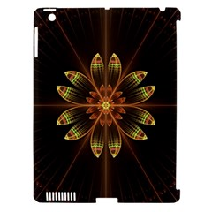 Fractal Floral Mandala Abstract Apple Ipad 3/4 Hardshell Case (compatible With Smart Cover) by Celenk