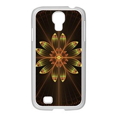 Fractal Floral Mandala Abstract Samsung Galaxy S4 I9500/ I9505 Case (white) by Celenk