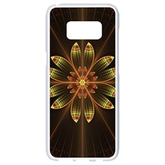 Fractal Floral Mandala Abstract Samsung Galaxy S8 White Seamless Case