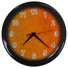 Background Paper Vintage Orange Wall Clocks (black)
