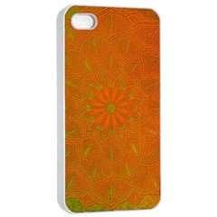 Background Paper Vintage Orange Apple Iphone 4/4s Seamless Case (white) by Celenk