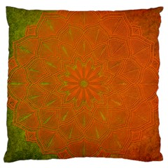 Background Paper Vintage Orange Large Cushion Case (one Side) by Celenk