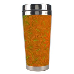 Background Paper Vintage Orange Stainless Steel Travel Tumblers by Celenk
