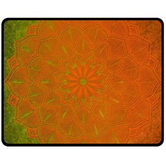 Background Paper Vintage Orange Double Sided Fleece Blanket (medium)  by Celenk