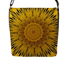 Pattern Petals Pipes Plants Flap Messenger Bag (l)  by Celenk