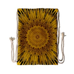 Pattern Petals Pipes Plants Drawstring Bag (small) by Celenk