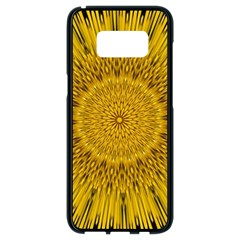 Pattern Petals Pipes Plants Samsung Galaxy S8 Black Seamless Case