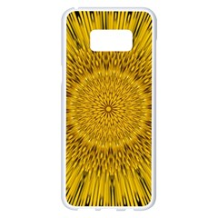 Pattern Petals Pipes Plants Samsung Galaxy S8 Plus White Seamless Case by Celenk