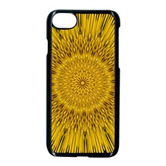 Pattern Petals Pipes Plants Apple Iphone 8 Seamless Case (black) by Celenk