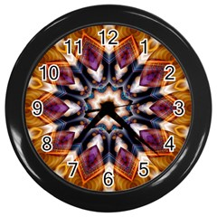 Kaleidoscope Pattern Kaleydograf Wall Clocks (black)