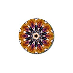 Kaleidoscope Pattern Kaleydograf Golf Ball Marker (4 Pack) by Celenk