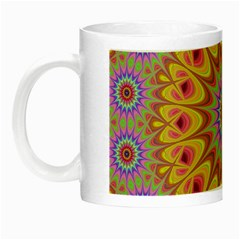 Geometric Flower Oriental Ornament Night Luminous Mugs by Celenk
