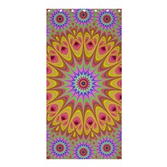 Geometric Flower Oriental Ornament Shower Curtain 36  X 72  (stall)  by Celenk