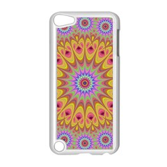 Geometric Flower Oriental Ornament Apple Ipod Touch 5 Case (white) by Celenk