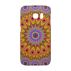 Geometric Flower Oriental Ornament Galaxy S6 Edge by Celenk