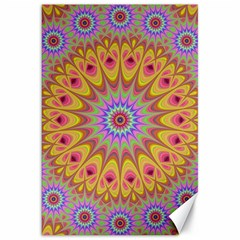 Geometric Flower Oriental Ornament Canvas 20  X 30   by Celenk