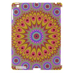 Geometric Flower Oriental Ornament Apple Ipad 3/4 Hardshell Case (compatible With Smart Cover) by Celenk