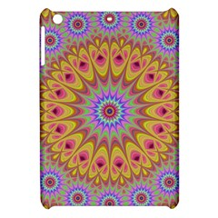 Geometric Flower Oriental Ornament Apple Ipad Mini Hardshell Case by Celenk