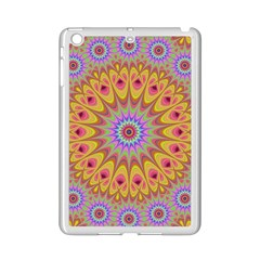 Geometric Flower Oriental Ornament Ipad Mini 2 Enamel Coated Cases by Celenk