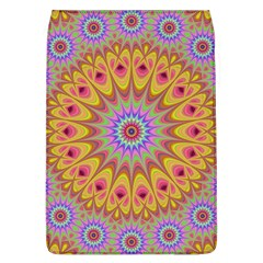 Geometric Flower Oriental Ornament Flap Covers (l)  by Celenk