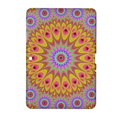 Geometric Flower Oriental Ornament Samsung Galaxy Tab 2 (10 1 ) P5100 Hardshell Case  by Celenk
