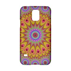 Geometric Flower Oriental Ornament Samsung Galaxy S5 Hardshell Case  by Celenk
